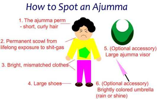 How to Spot an Ajumma