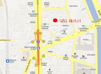 Map - G&G Motel Busan