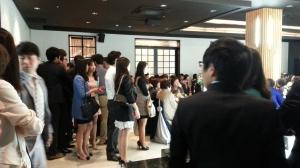 Korean Wedding - Friends in the wedding hall