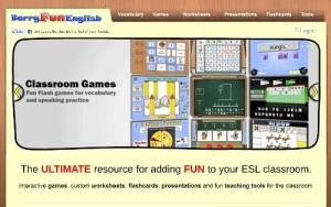 ESL website, English, fun, teaching