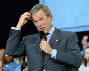 President Bush is confused. Language, ESL