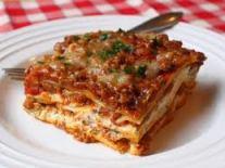 And I really love lasagna...