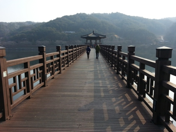 Wolyeonggyo Longest Wooden Bridge in Korea