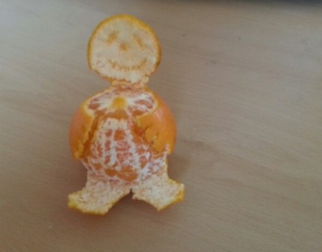 Clementine peel art fun