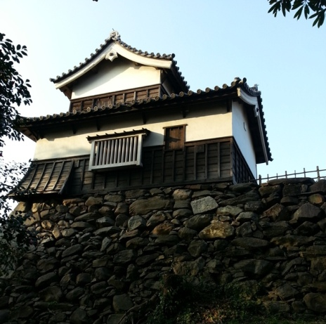 Maizuru Castle in Fukuoka Japan house on wall