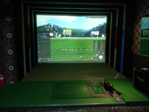 Screen golf driving range